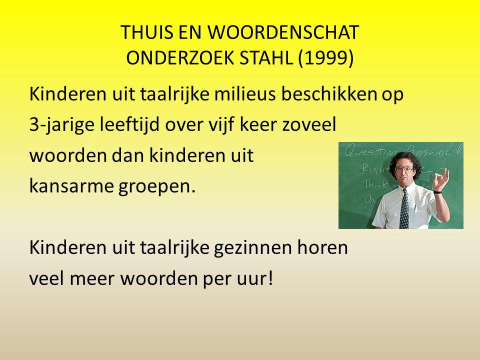 THUIS EN WOORDENSCHAT ONDERZOEK STAHL (1999)