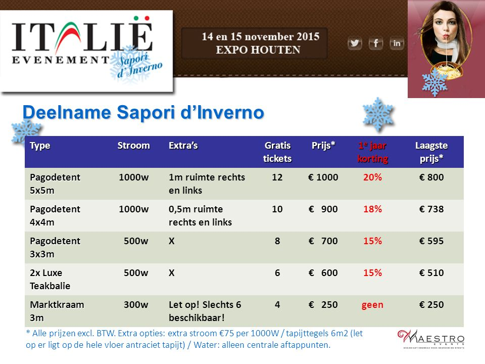 Deelname Sapori d'Inverno