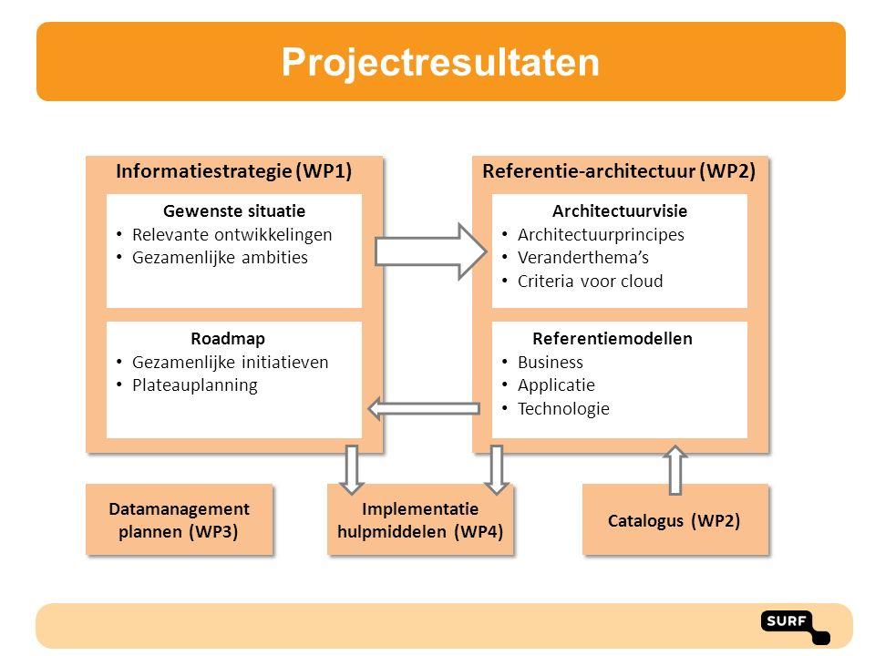 Projectresultaten Informatiestrategie (WP1)