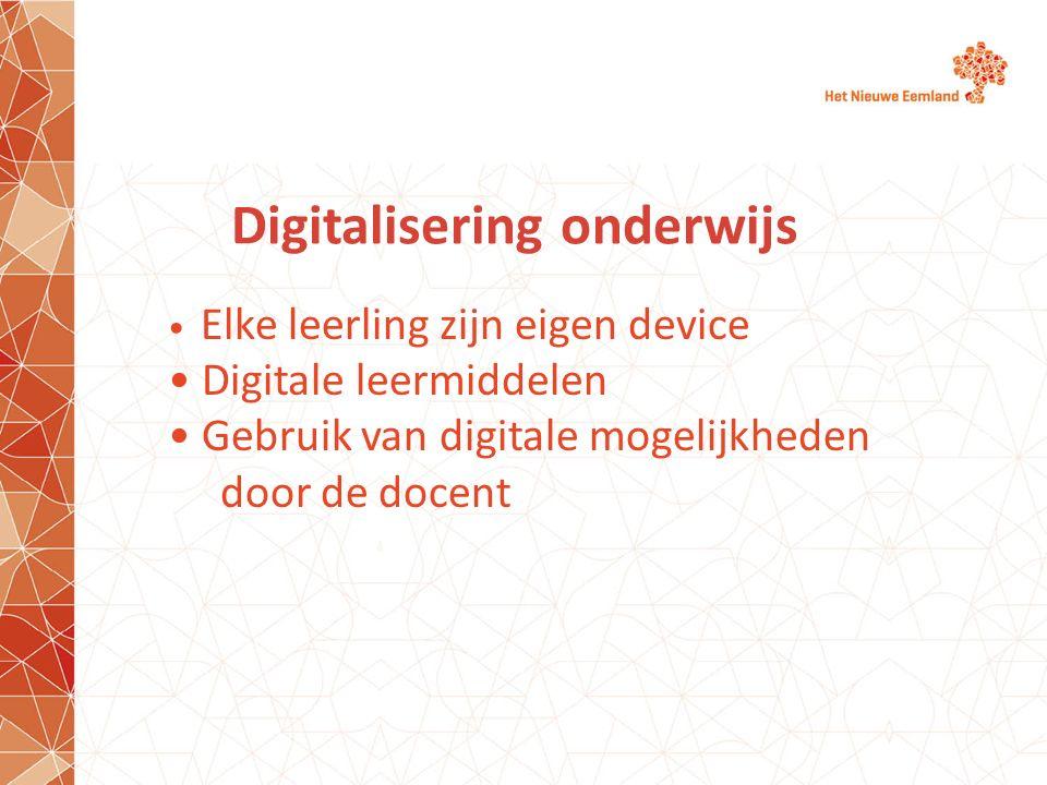 Digitalisering onderwijs
