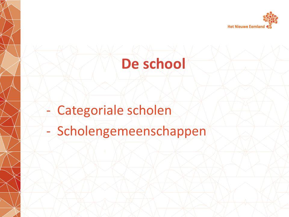 Categoriale scholen Scholengemeenschappen