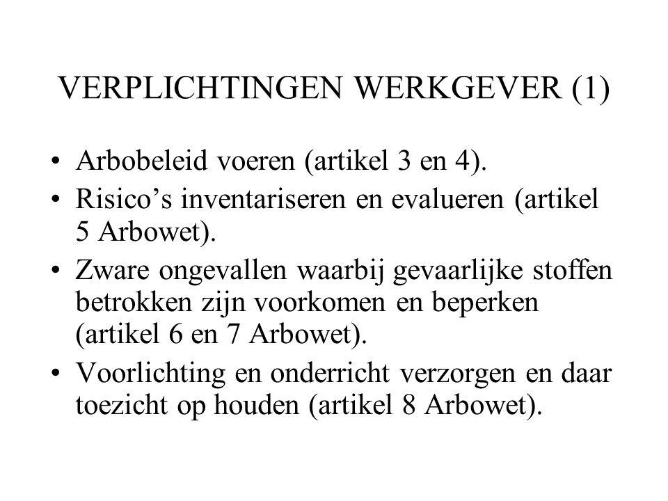 VERPLICHTINGEN WERKGEVER (1)