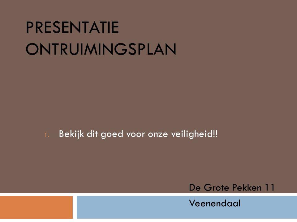 Presentatie ontruimingsplan