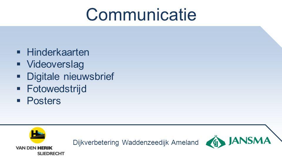 Communicatie Hinderkaarten Videoverslag Digitale nieuwsbrief