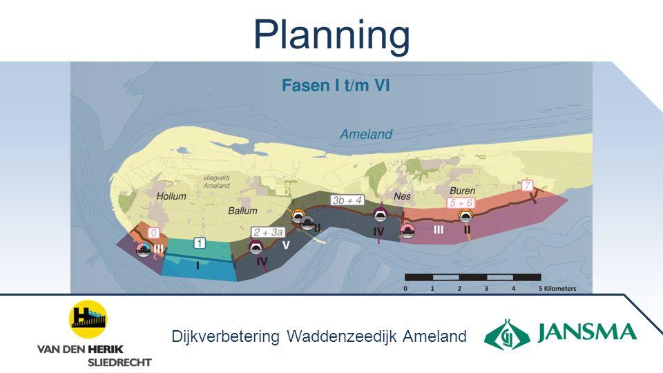 Planning Dijkverbetering Waddenzeedijk Ameland