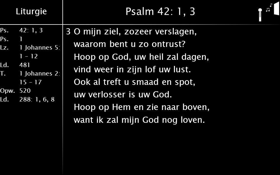 Psalm 42: 1, 3