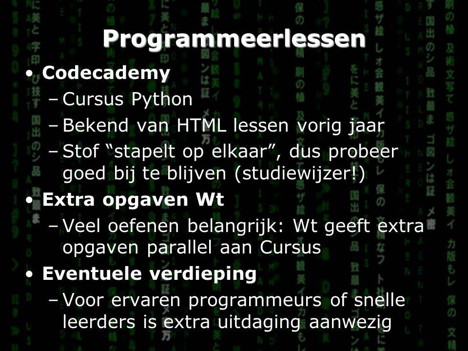 Programmeerlessen Codecademy Cursus Python