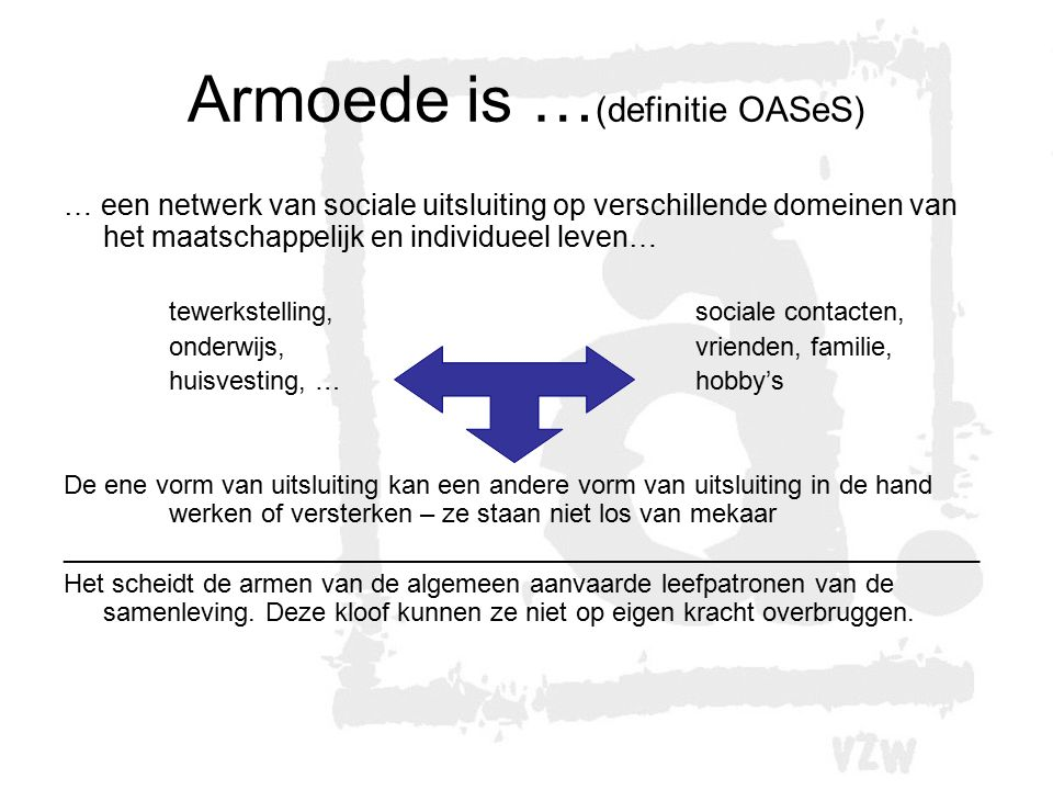 Armoede is …(definitie OASeS)