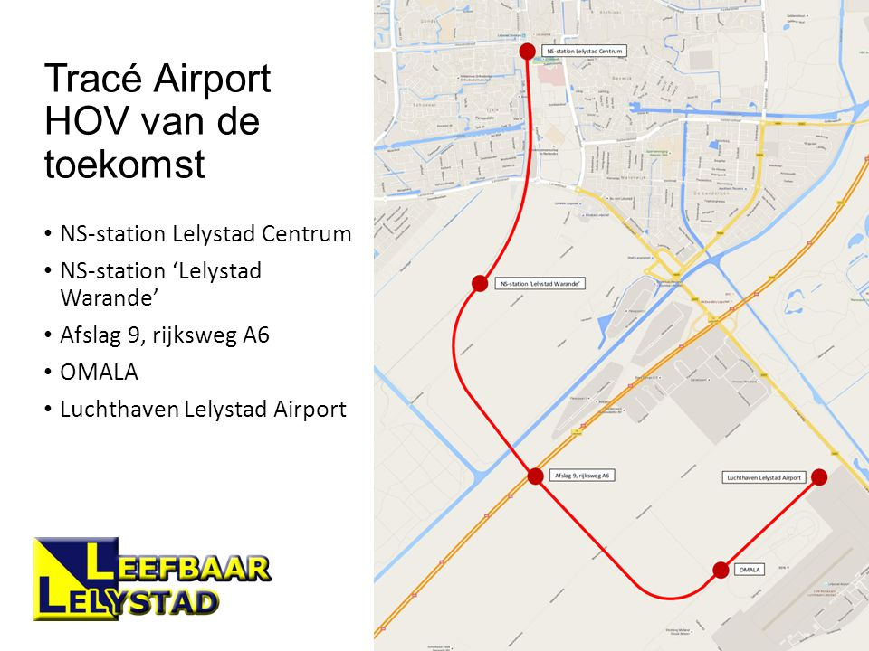 Tracé Airport HOV van de toekomst