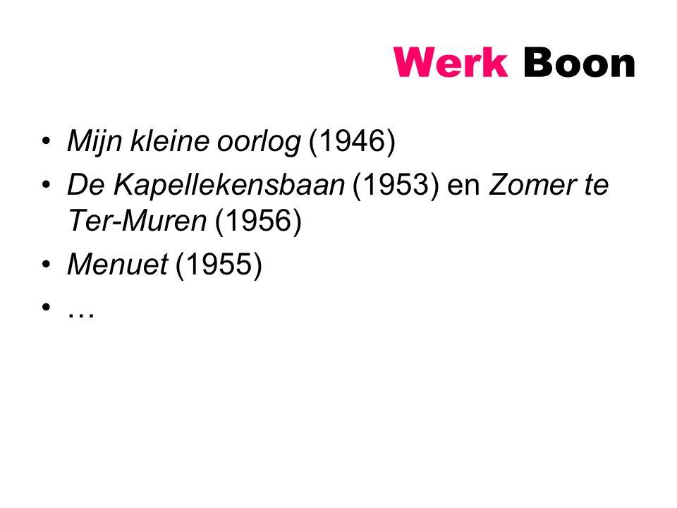 Werk Boon Mijn kleine oorlog (1946)