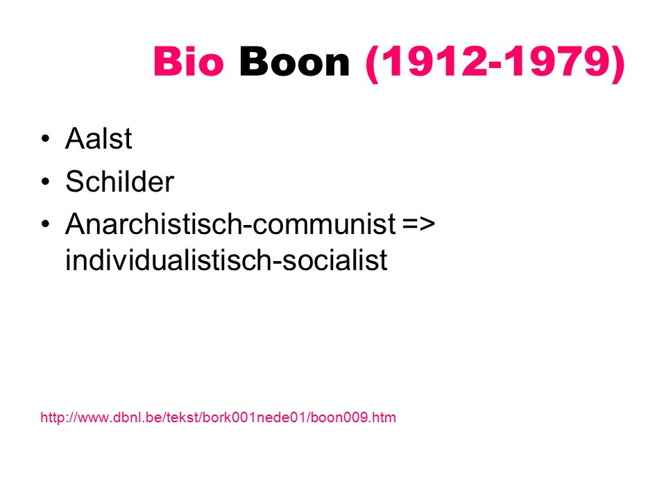 Bio Boon (1912-1979) Aalst Schilder