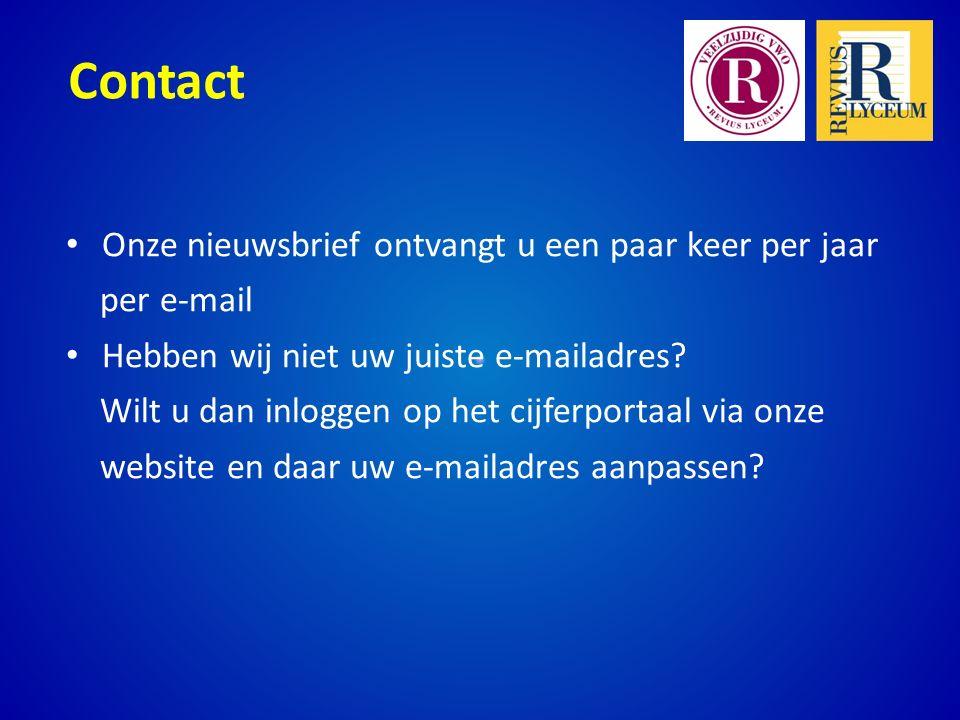 Contact Onze nieuwsbrief ontvangt u een paar keer per jaar. per e-mail. Hebben wij niet uw juiste e-mailadres