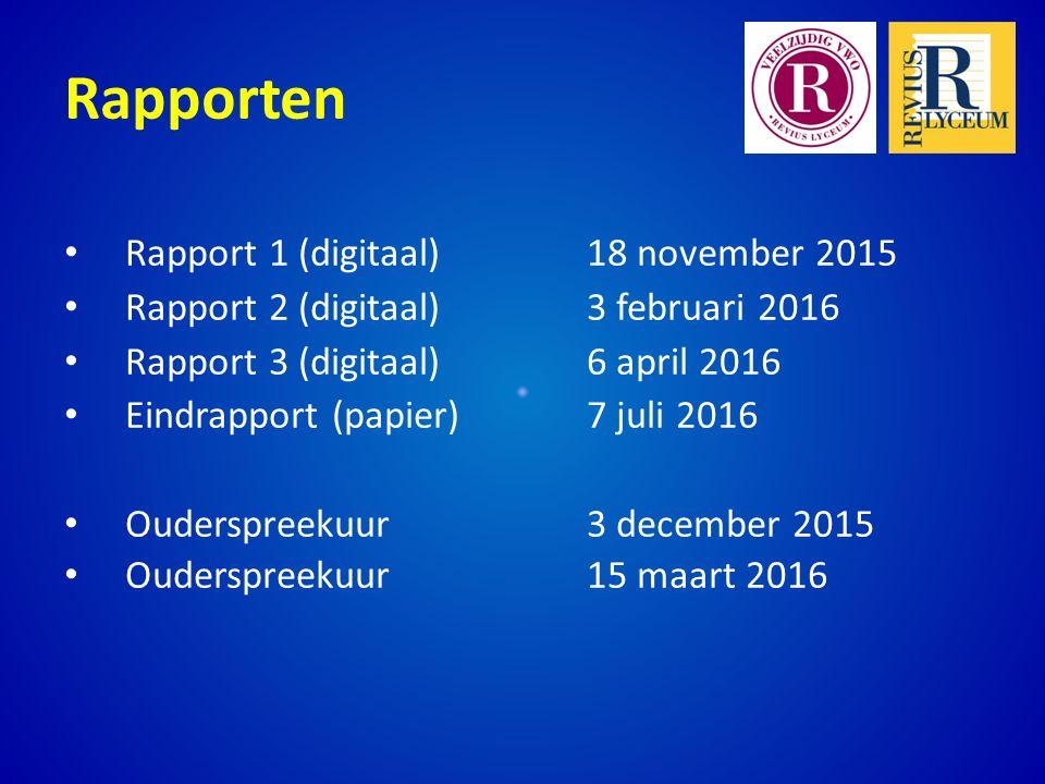 Rapporten Rapport 1 (digitaal) 18 november 2015