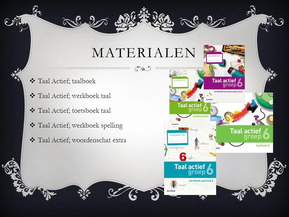 Materialen Taal Actief; taalboek Taal Actief; werkboek taal