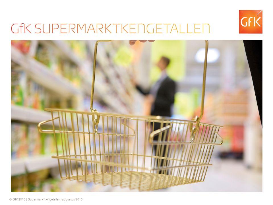 © GfK 2015 | Supermarktkengetallen | augustus 2015