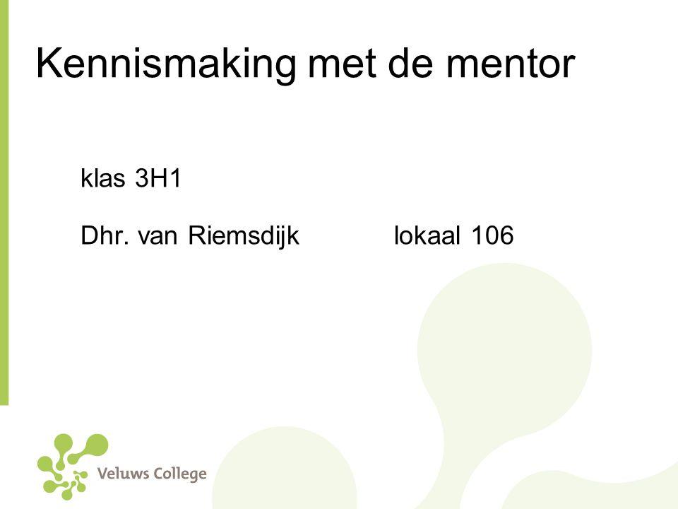 Kennismaking met de mentor