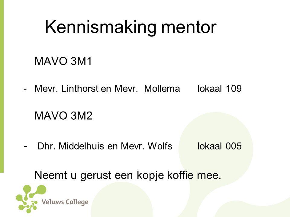 Kennismaking mentor MAVO 3M1 MAVO 3M2