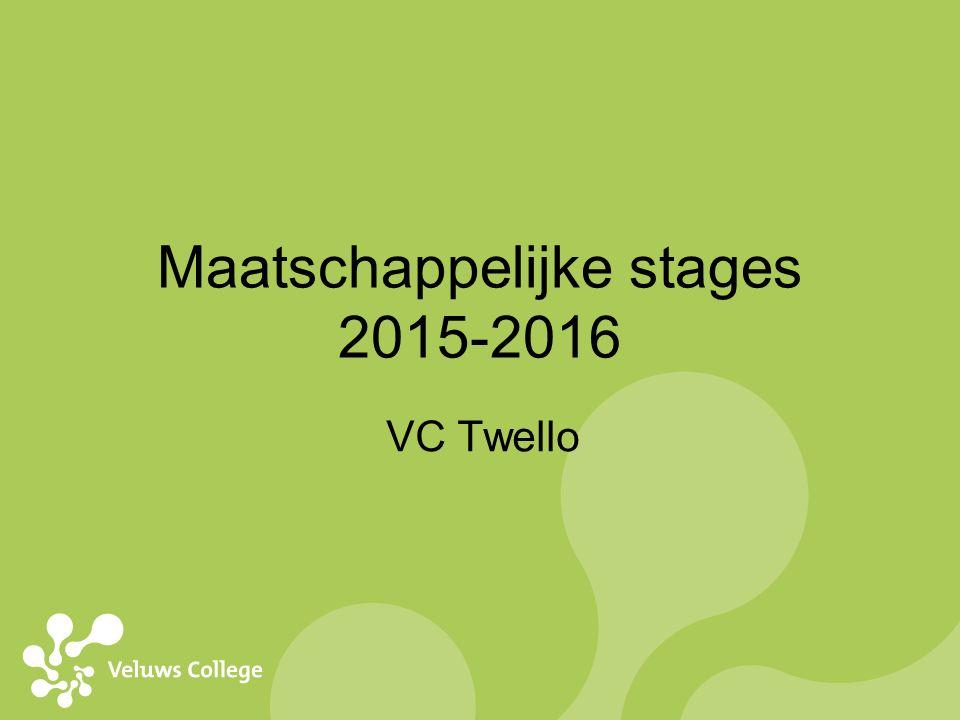 Maatschappelijke stages 2015-2016