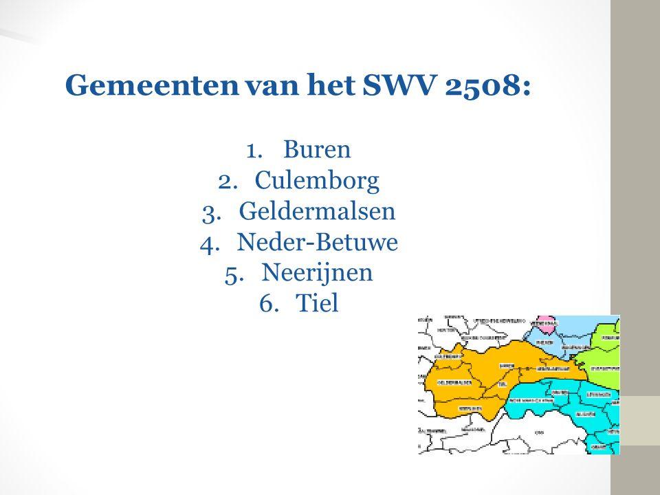 Gemeenten van het SWV 2508: Buren Culemborg Geldermalsen Neder-Betuwe
