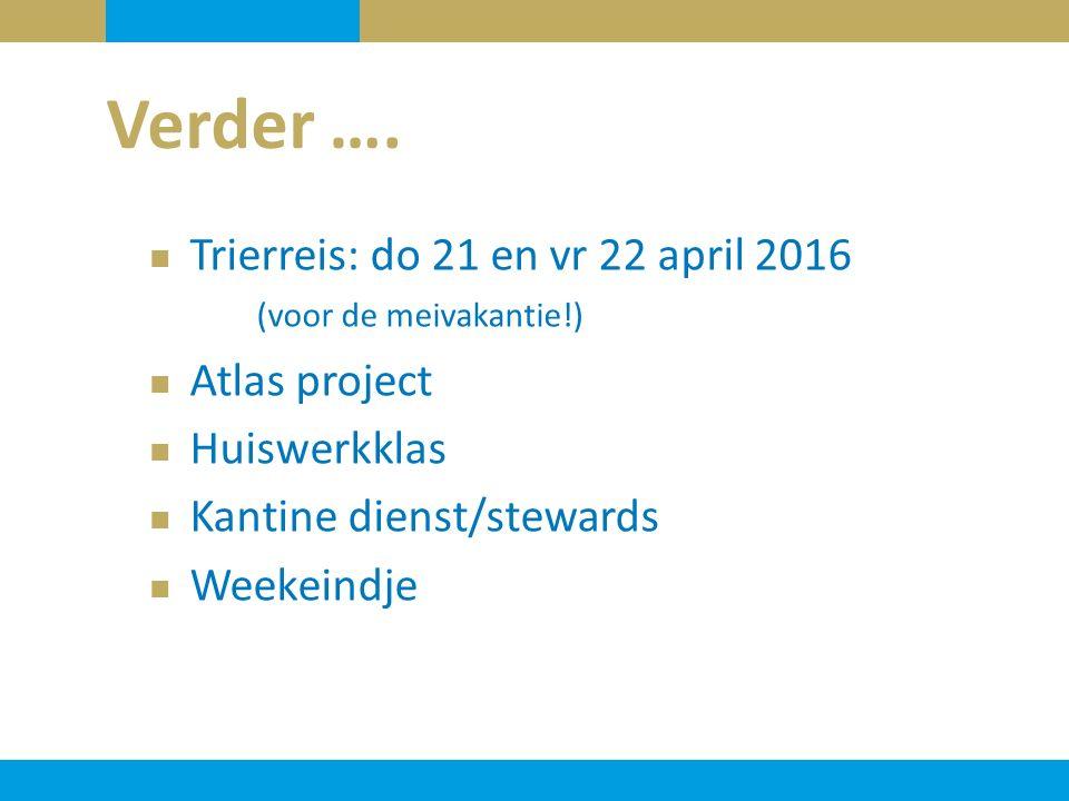 Verder …. Trierreis: do 21 en vr 22 april 2016 (voor de meivakantie!)