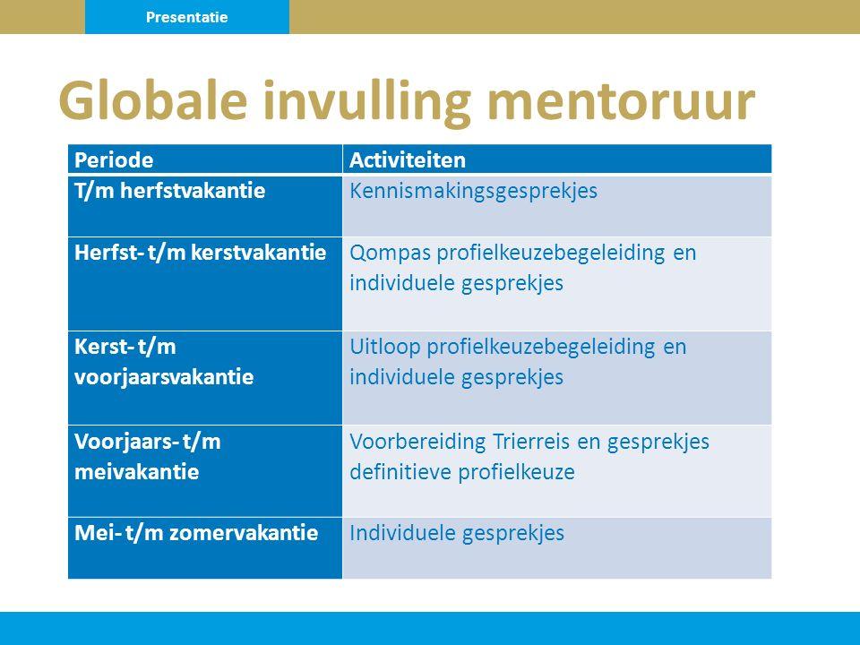 Globale invulling mentoruur