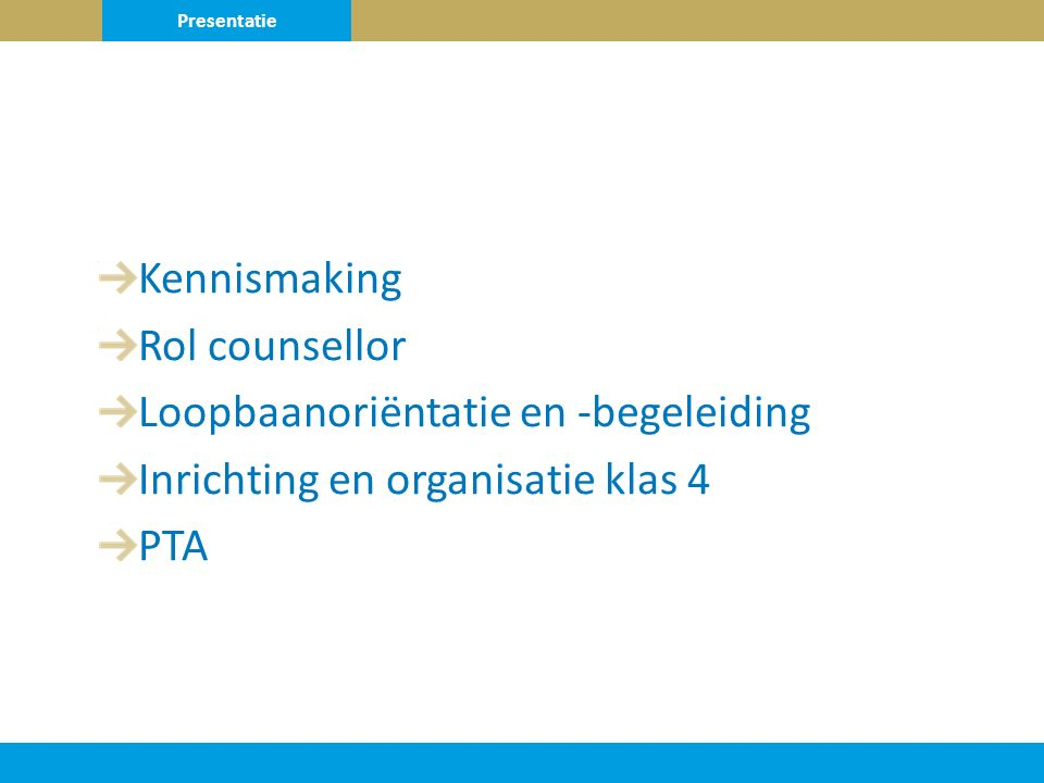 Loopbaanoriëntatie en -begeleiding Inrichting en organisatie klas 4