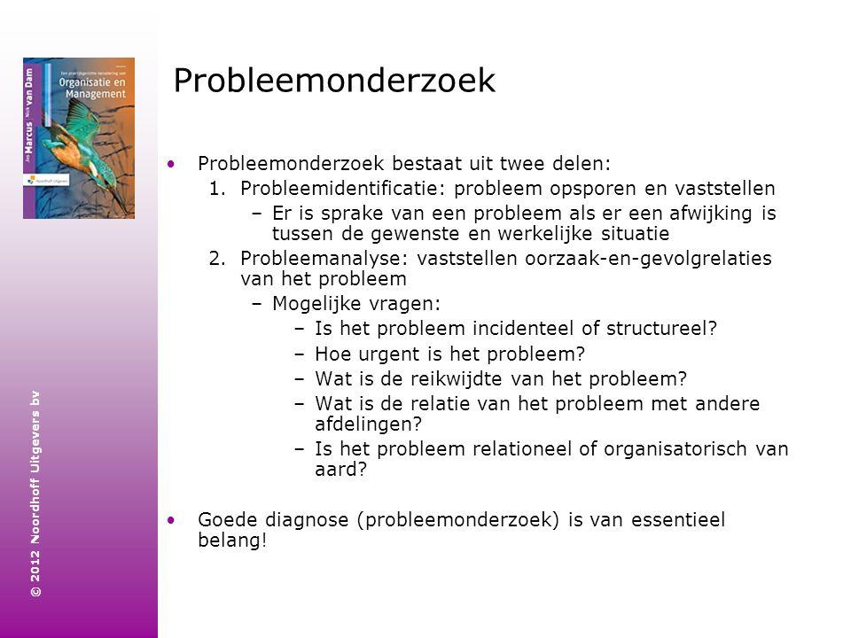 Probleemonderzoek Probleemonderzoek bestaat uit twee delen:
