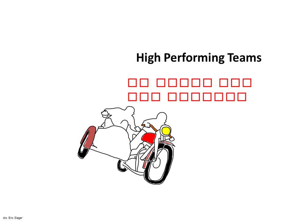 High Performing Teams De Kunst van het Bewegen drs. Eric Slager