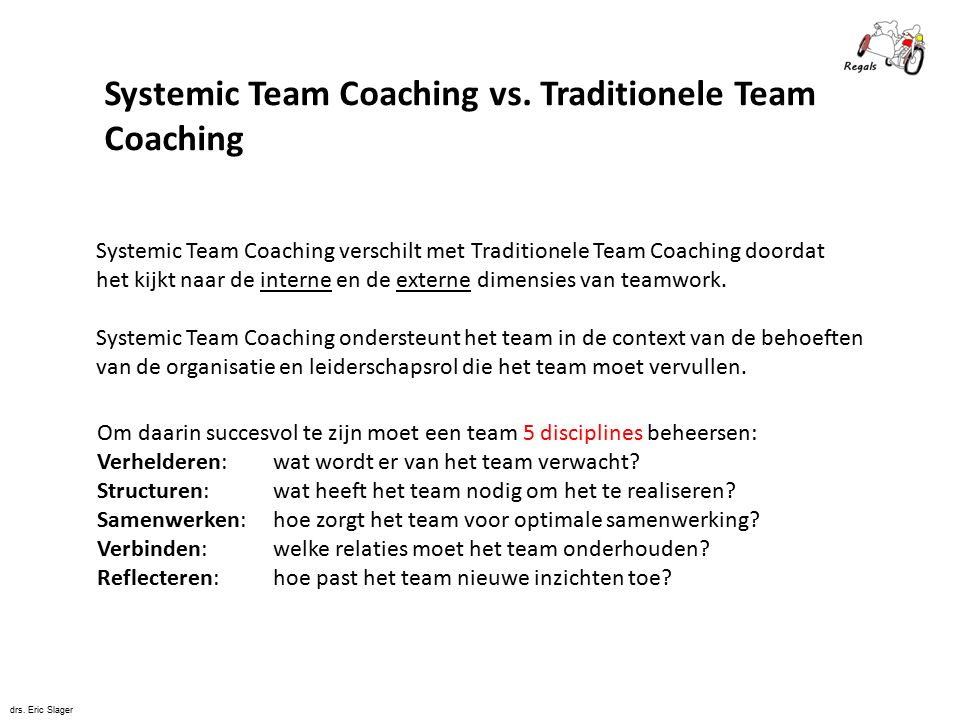 Systemic Team Coaching vs. Traditionele Team Coaching