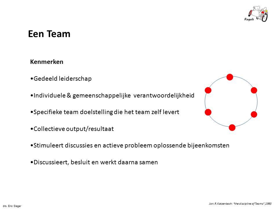 Een Team Kenmerken Gedeeld leiderschap