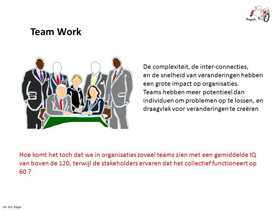 Team Work De complexiteit, de inter-connecties,