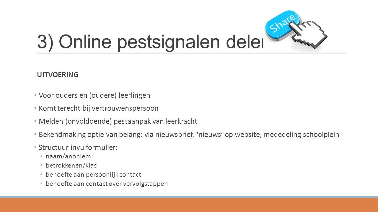 3) Online pestsignalen delen