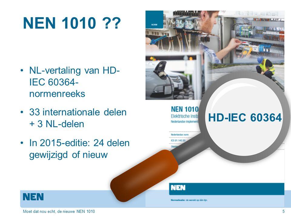 NEN 1010 HD-IEC 60364 NL-vertaling van HD-IEC 60364- normenreeks