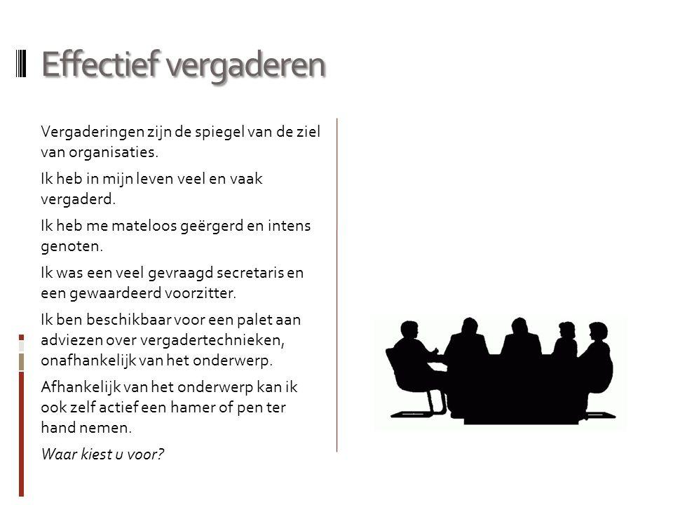 Effectief vergaderen
