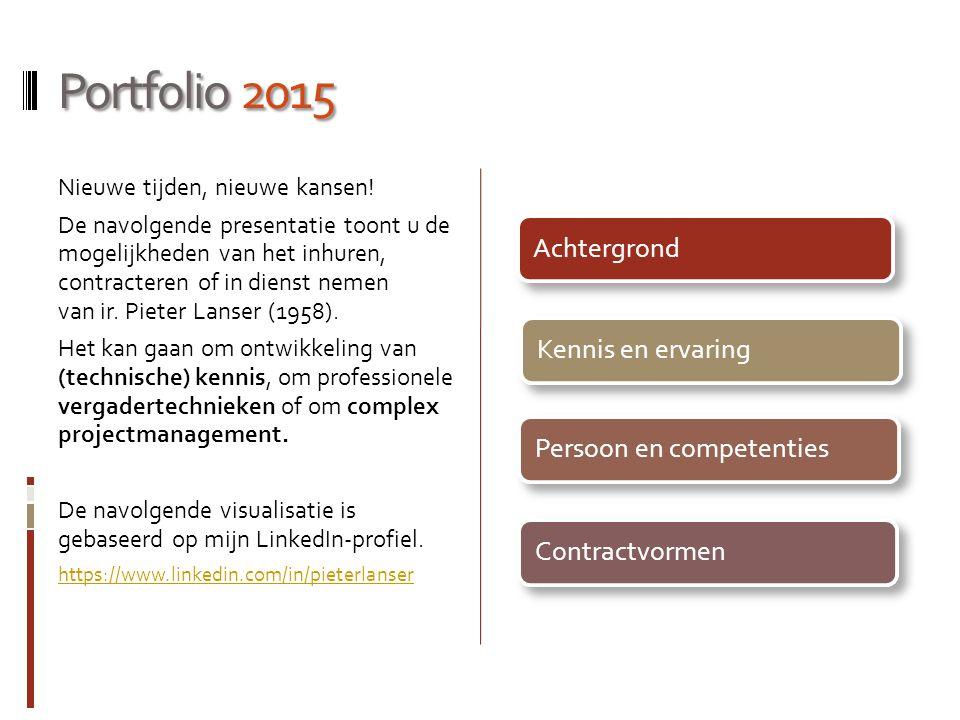 Portfolio 2015 Achtergrond Kennis en ervaring Persoon en competenties