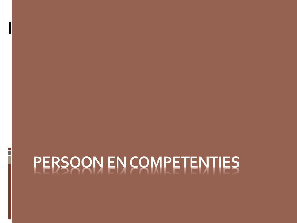 persoon en competenties