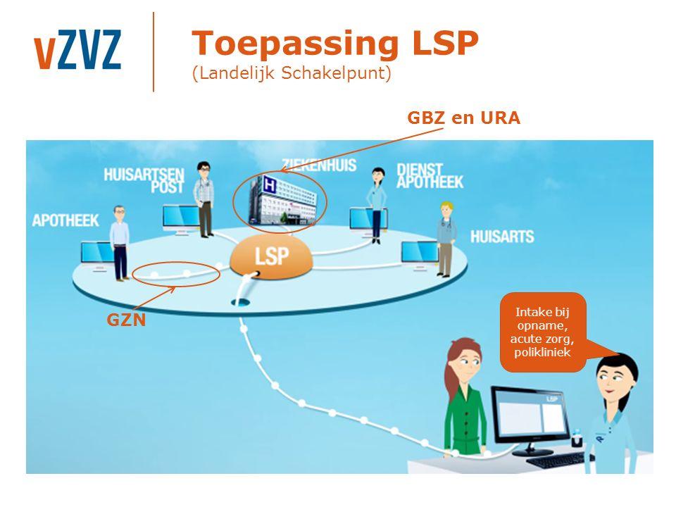 Toepassing LSP (Landelijk Schakelpunt)