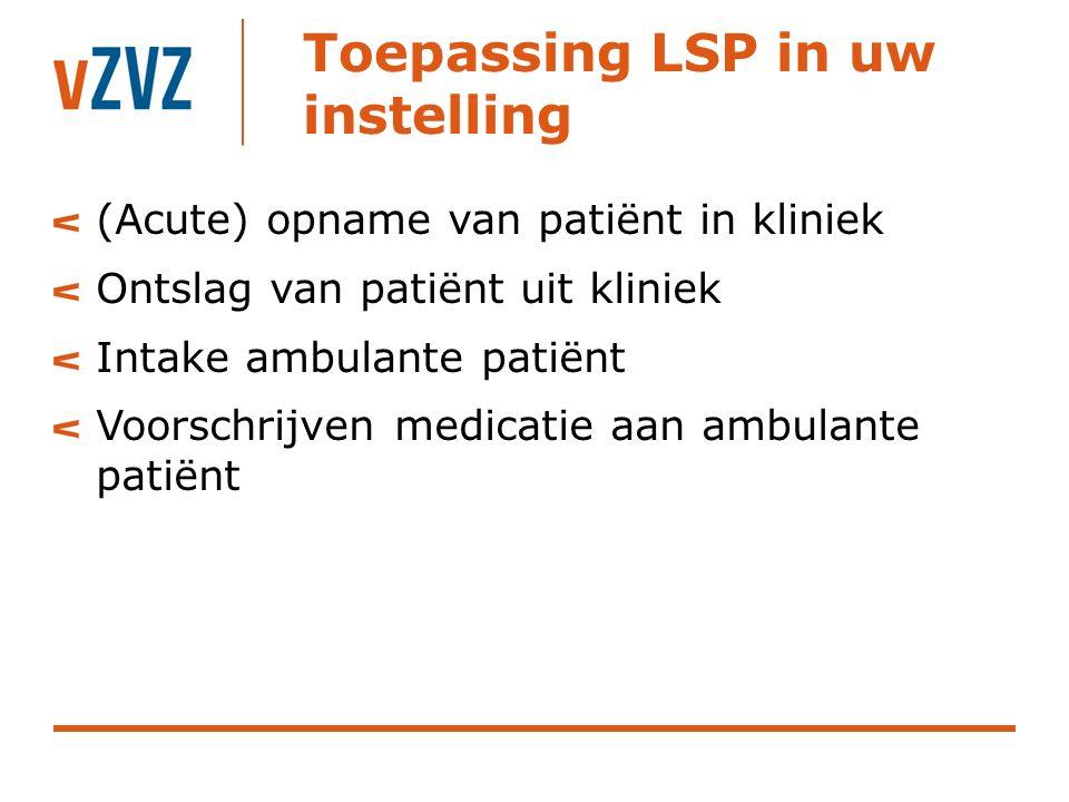 Toepassing LSP in uw instelling