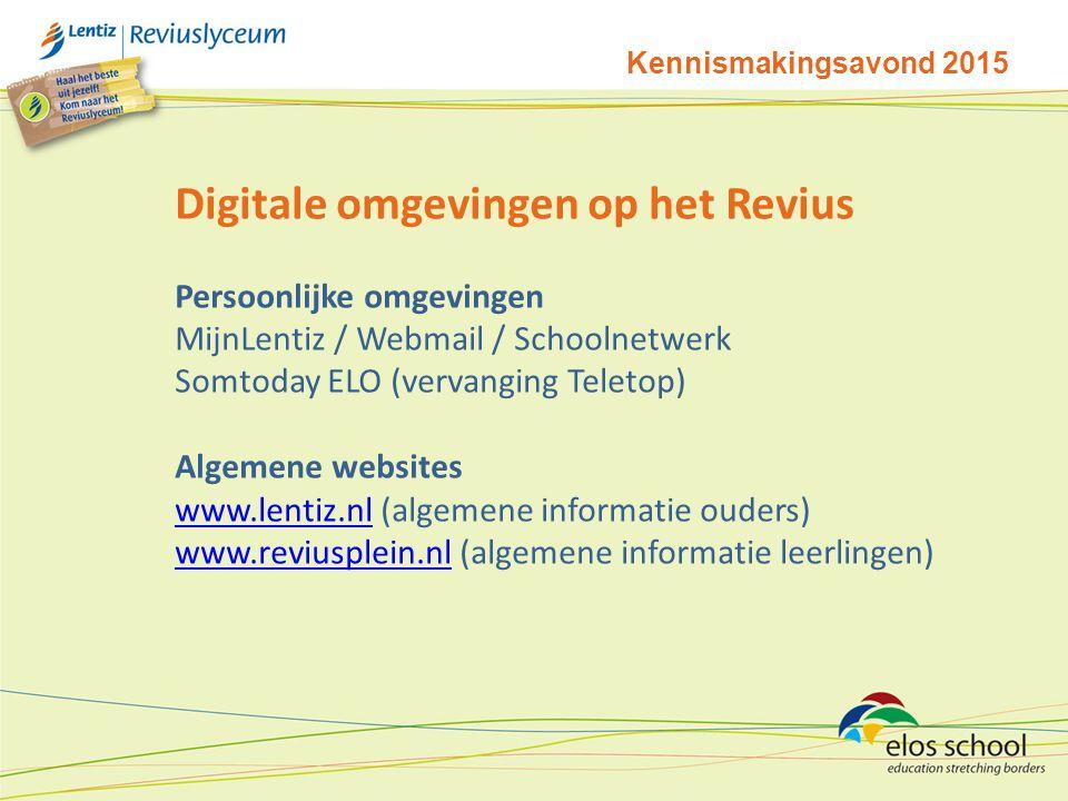 Digitale omgevingen op het Revius