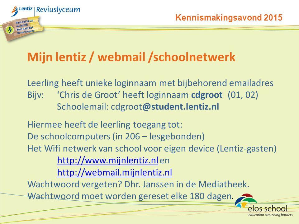 Mijn lentiz / webmail /schoolnetwerk