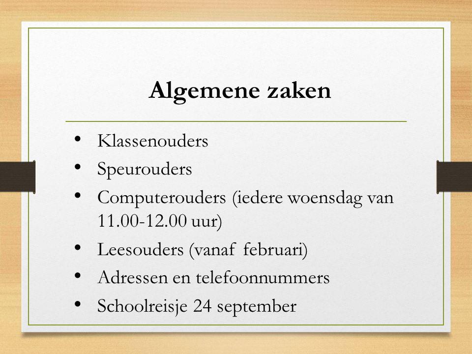 Algemene zaken Klassenouders Speurouders