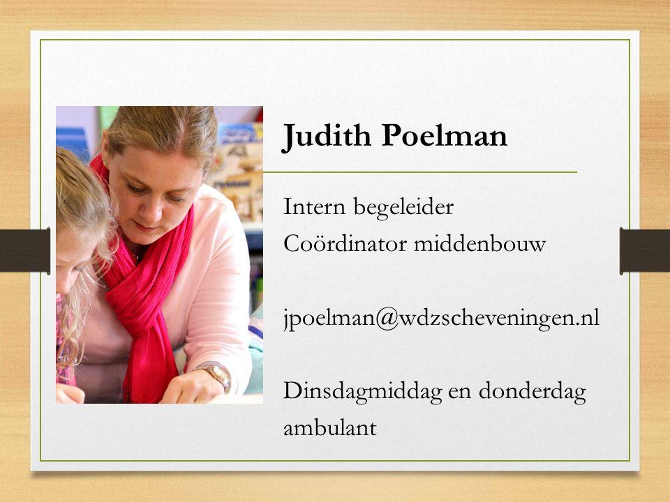 Judith Poelman Intern begeleider Coördinator middenbouw