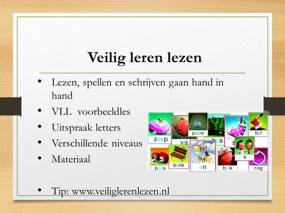 Veilig leren lezen Lezen, spellen en schrijven gaan hand in hand