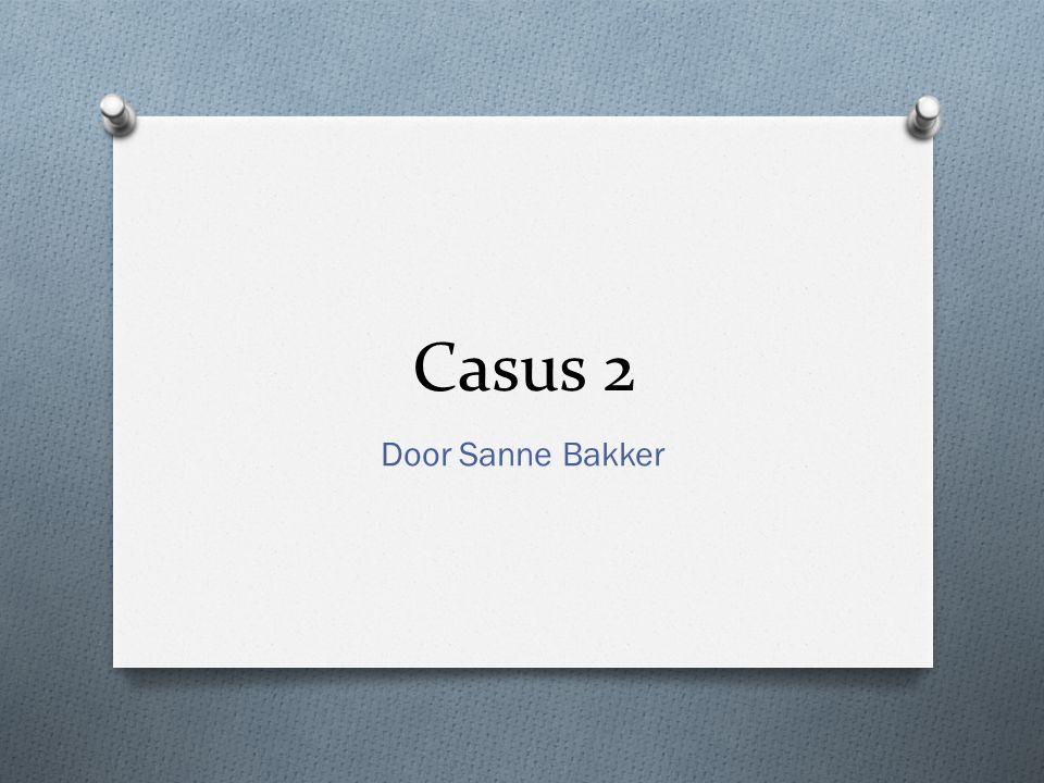 Casus 2 Door Sanne Bakker