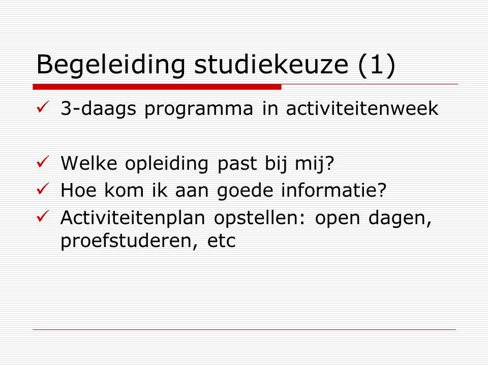 Begeleiding studiekeuze (1)