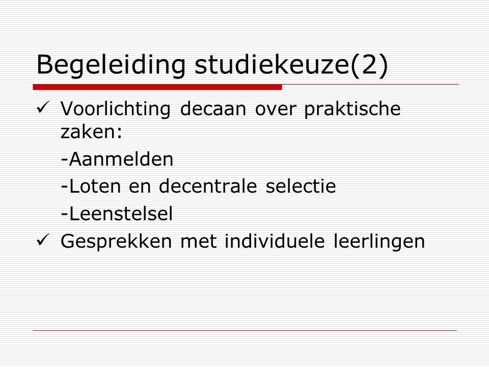 Begeleiding studiekeuze(2)