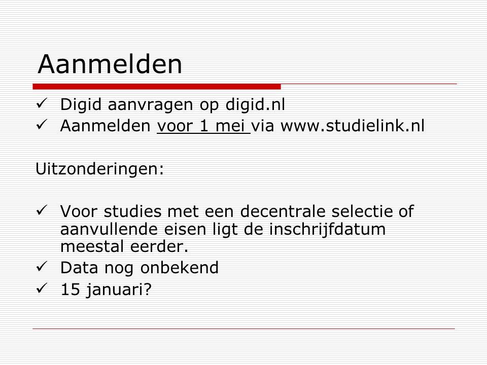 Aanmelden Digid aanvragen op digid.nl