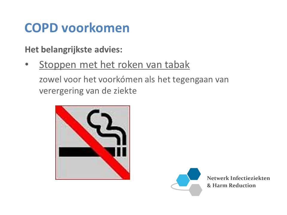 COPD voorkomen Stoppen met het roken van tabak
