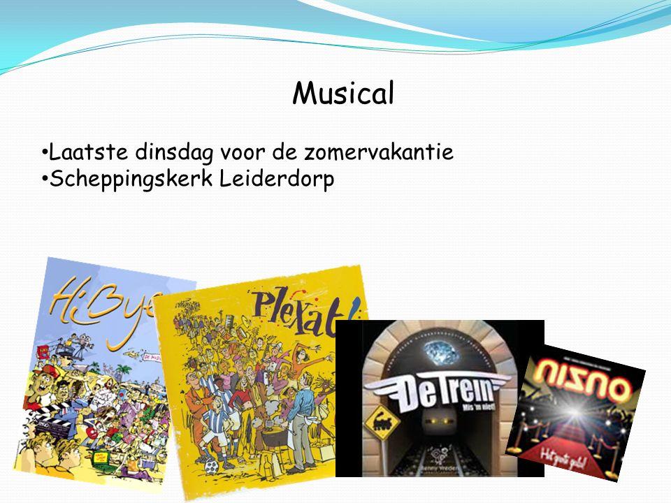 Musical Laatste dinsdag voor de zomervakantie