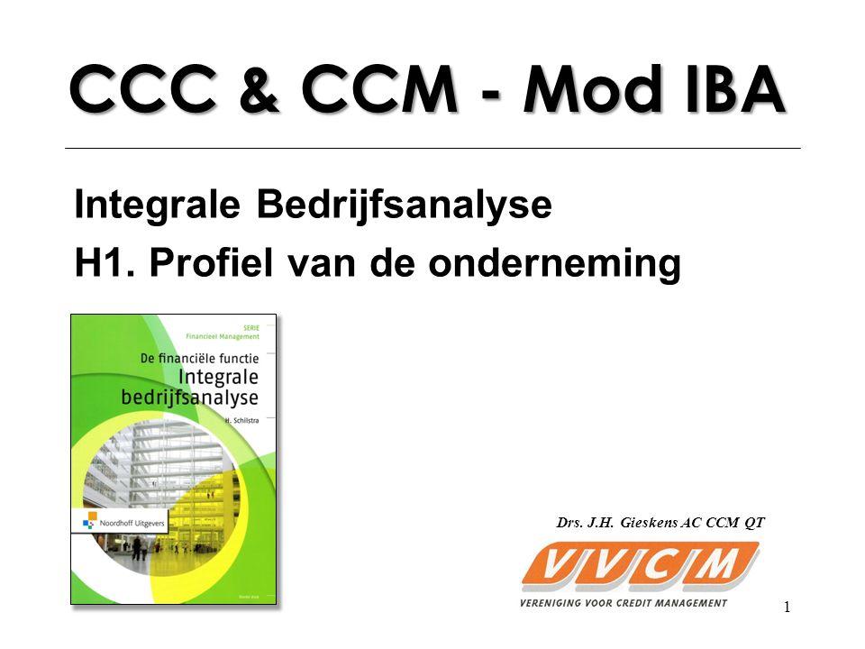 CCC & CCM - Mod IBA Integrale Bedrijfsanalyse